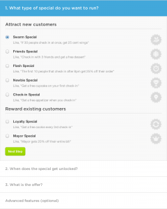 Specials bei Foursquare